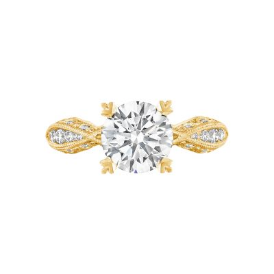 Tacori 2578RD8Y Classic Crescent Yellow Gold Round Engagement Ring