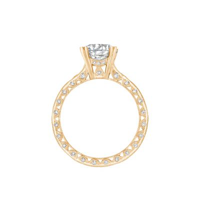 Tacori 2578RD8Y Yellow Gold Round Engagement Ring side