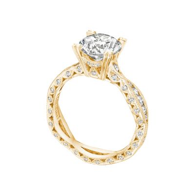 Tacori 2578RD8Y Yellow Gold Round Infinity Style Engagement Ring angle