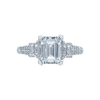 Tacori 2579EM Simply Tacori White Gold Emerald Cut Engagement Ring