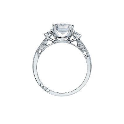 Tacori 2579EM White Gold Emerald Cut Engagement Ring side