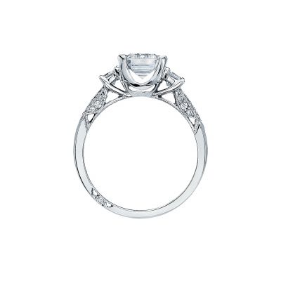 Tacori 2579EM85X65 Platinum Emerald Cut Engagement Ring side
