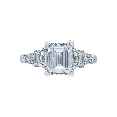 Tacori 2579EM85X65 Simply Tacori Platinum Emerald Cut Engagement Ring