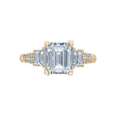 Tacori 2579EM85X65-Y Simply Tacori Yellow Gold Emerald Cut Engagement Ring