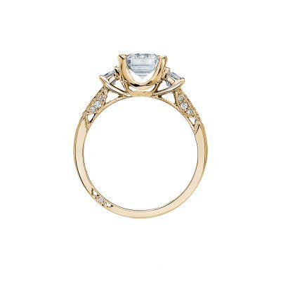 Tacori 2579EM85X65-Y Yellow Gold Emerald Cut Engagement Ring side