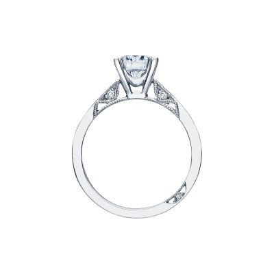 Tacori 2584RD White Gold Round Engagement Ring side