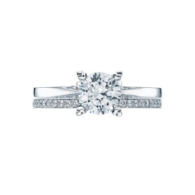 Tacori 2584RD White Gold Round Solitaire Engagement Ring set