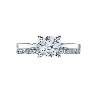 Tacori 2584RD65 Platinum Round Solitaire Engagement Ring set