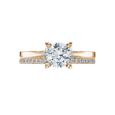Tacori 2584RD65-Y Yellow Gold Round Solitaire Engagement Ring set