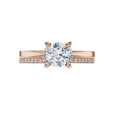 Tacori 2584RD65PK Rose Gold Round Solitaire Engagement Ring set