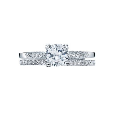 Tacori 2586RD White Gold Round Simple Classic Engagement Ring set
