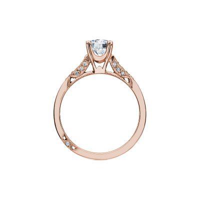 Tacori 2586RD6-PK Rose Gold Round Engagement Ring side