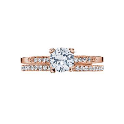 Tacori 2586RD6-PK Rose Gold Round Simple Engagement Ring set