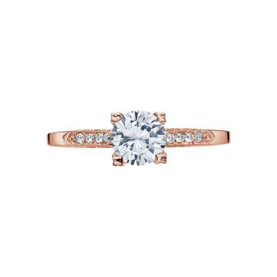 Tacori 2586RD6-PK Simply Tacori Rose Gold Round Engagement Ring