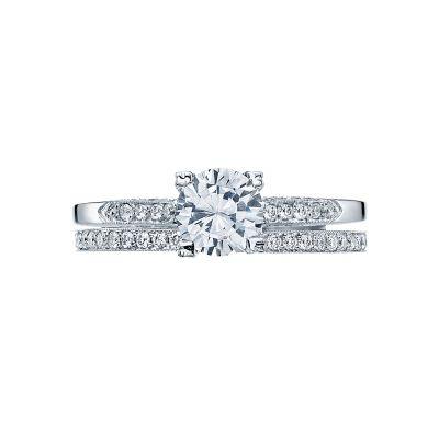 Tacori 2586RD6 Platinum Round Classic Style Engagement Ring set