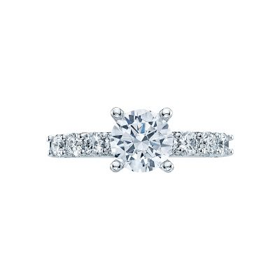 Tacori 2598RD Classic Crescent White Gold Round Engagement Ring