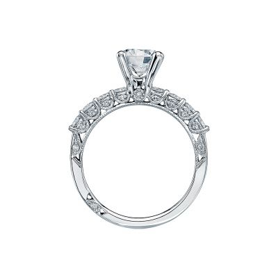 Tacori 2598RD White Gold Round Engagement Ring side