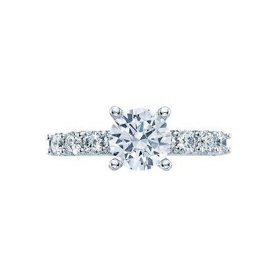 Tacori 2598RD7 Classic Crescent Platinum Round Engagement Ring