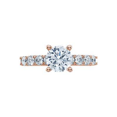 Tacori 2598RD7-PK Classic Crescent Rose Gold Round Engagement Ring