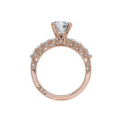 Tacori 2598RD7-PK Rose Gold Round Engagement Ring side