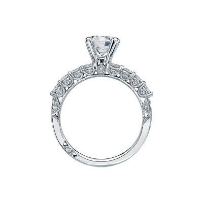 Tacori 2598RD7 Platinum Round Engagement Ring side