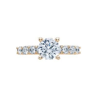Tacori 2598RD7-Y Classic Crescent Yellow Gold Round Engagement Ring