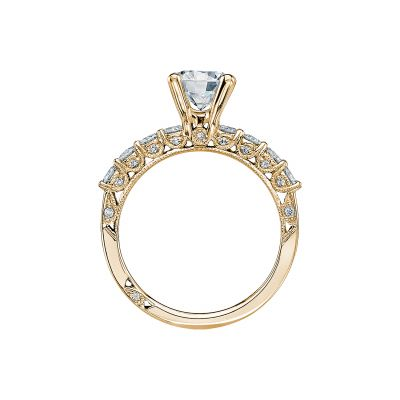 Tacori 2598RD7-Y Yellow Gold Round Engagement Ring side