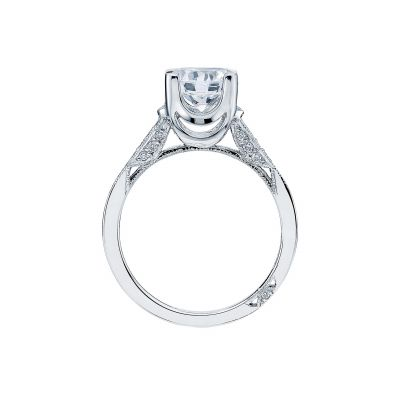 Tacori 2603RD White Gold Round Engagement Ring side