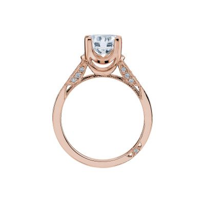 Tacori 2603RD75-PK Rose Gold Round Engagement Ring side