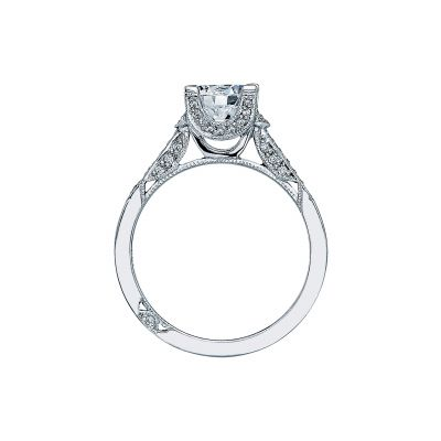 Tacori 2604RD White Gold Round Engagement Ring side