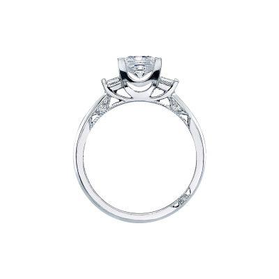 Tacori 2605PR White Gold Princess Cut Engagement Ring side