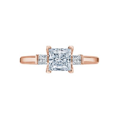 Tacori 2605PR55-PK Simply Tacori Rose Gold Princess Cut Engagement Ring