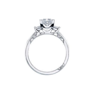Tacori 2605PR55 Platinum Princess Cut Engagement Ring side