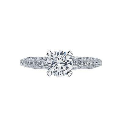 Tacori 26126RD65 Classic Crescent Platinum Round Engagement Ring
