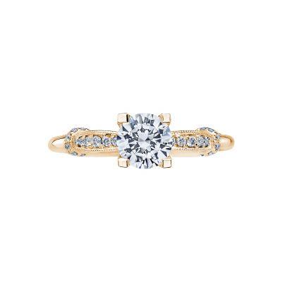Tacori 2615RD6-Y Simply Tacori Yellow Gold Round Engagement Ring