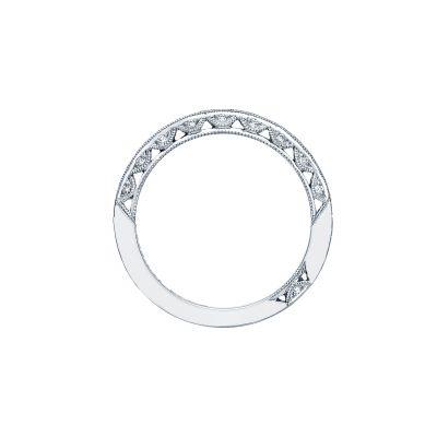 Tacori 2616b12x Classic Crescent White Gold Unique Wedding Ring