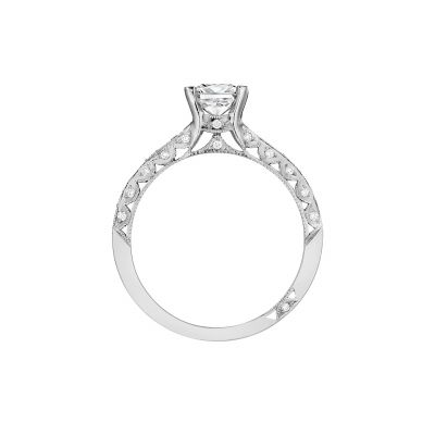 Tacori 2616PR55-W White Gold Princess Cut Engagement Ring side
