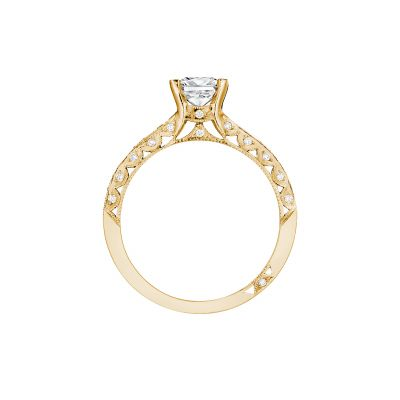 Tacori 2616PR55-Y Yellow Gold Princess Cut Engagement Ring side