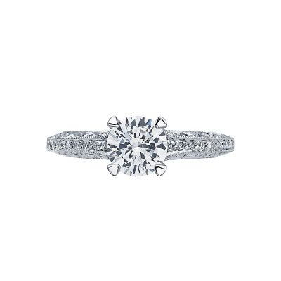 Tacori 2616RD Classic Crescent White Gold Round Engagement Ring