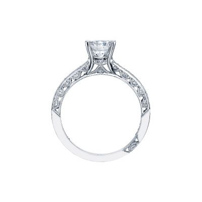 Tacori 2616RD White Gold Round Engagement Ring side