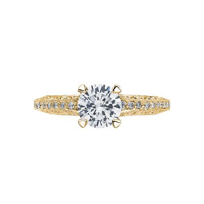 Tacori 2616RD65-Y Classic Crescent Yellow Gold Round Engagement Ring
