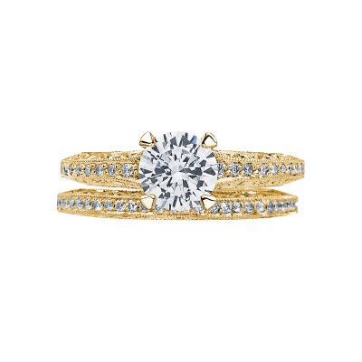 Tacori 2616RD65-Y Yellow Gold Round Unique Classic Engagement Ring set
