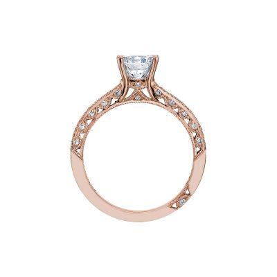 Tacori 2616RD65PK Rose Gold Round Engagement Ring side