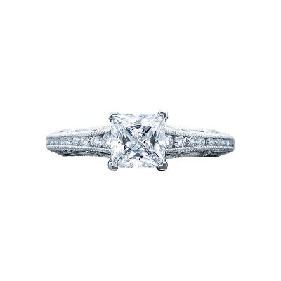 Tacori 2617PR Reverse Crescent White Gold Princess Cut Engagement Ring