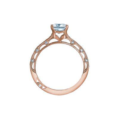 Tacori 2617PR55-PK Rose Gold Princess Cut Engagement Ring side