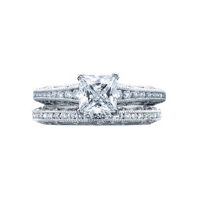 Tacori 2617PR55 Platinum Princess Cut Classic Engagement Ring set