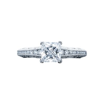 Tacori 2617PR55 Reverse Crescent Platinum Princess Cut Engagement Ring
