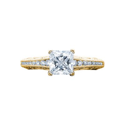 Tacori 2617PR55-Y Reverse Crescent Yellow Gold Princess Cut Engagement Ring