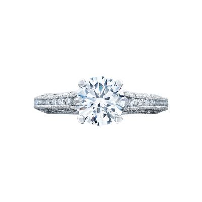 Tacori 2617RD Reverse Crescent White Gold Round Engagement Ring