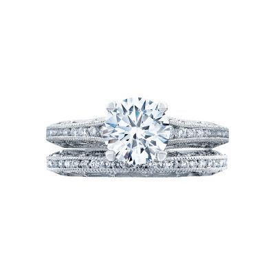 Tacori 2617RD White Gold Round Classic Engagement Ring set